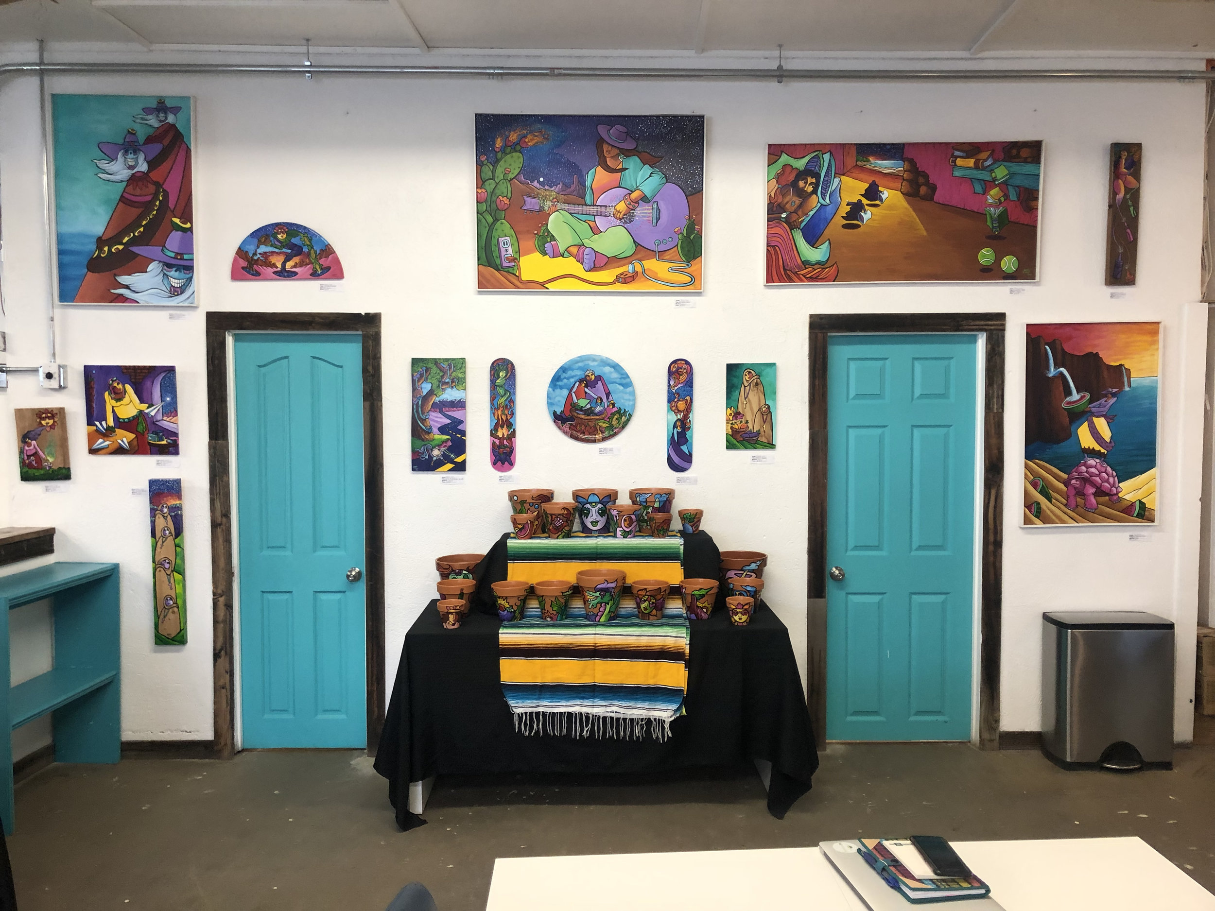Westwood Food Cooperative / Re:Vision's Office space transformed by Daniel Luna's vibrant pieces