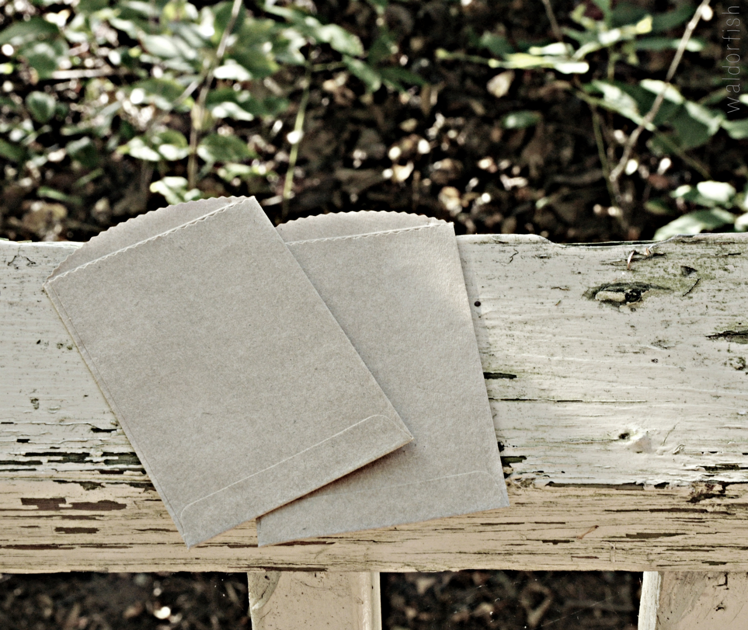 simple kraft envelopes, easily made with paper bags