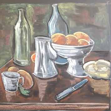 Lesson Eight- Chalk/pastel on chalkboard or black paper