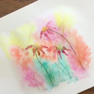 Lesson Nineteen - Watercolor pencils + crayons, dry watercolor paints, paper