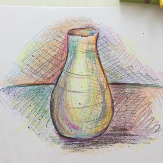 Lesson Twenty-nine: Stick crayon still-life on drawing paper