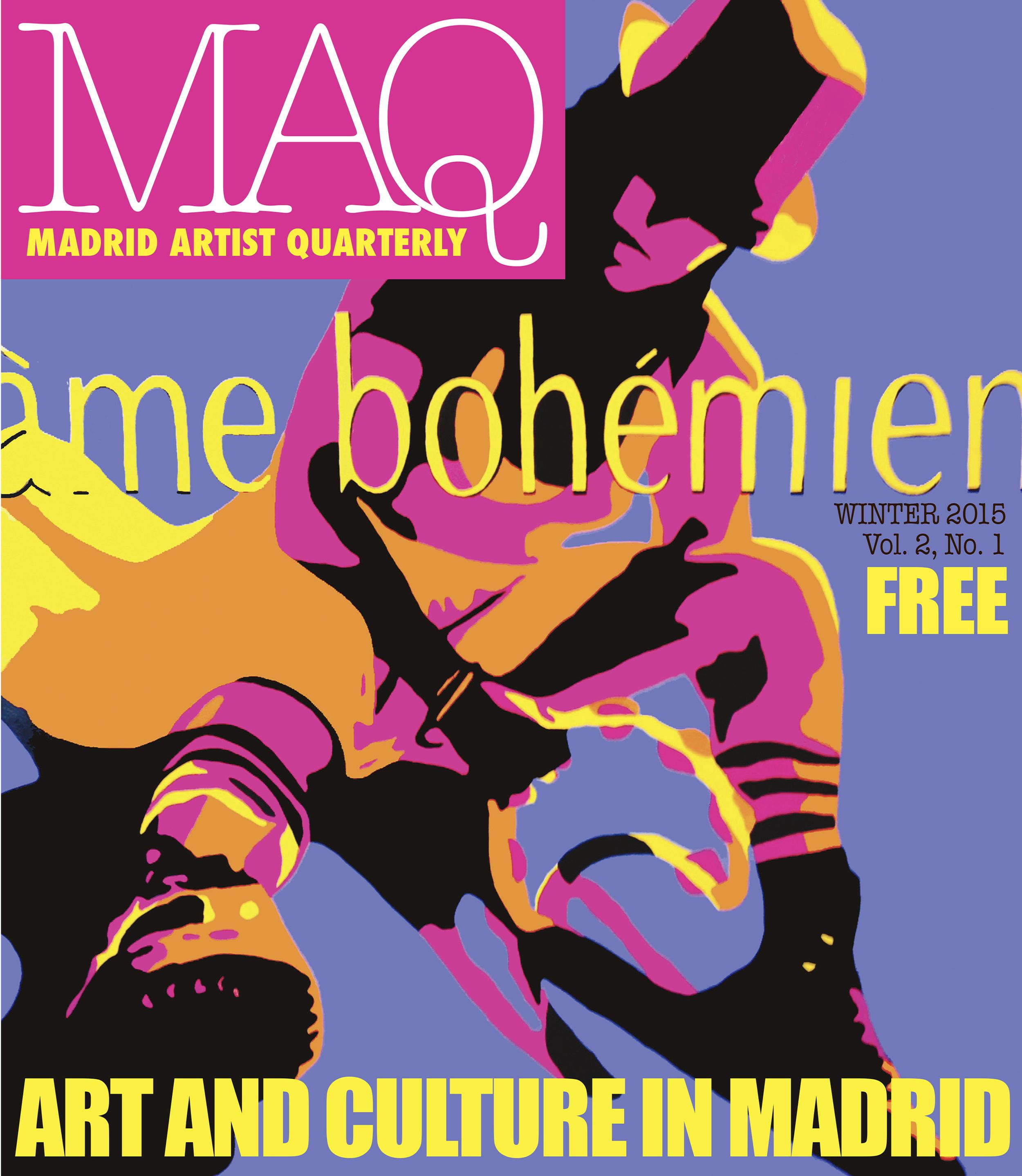 on the cover of the MadridArtistQuarterly.com