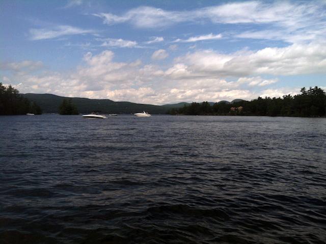 Lake George view.