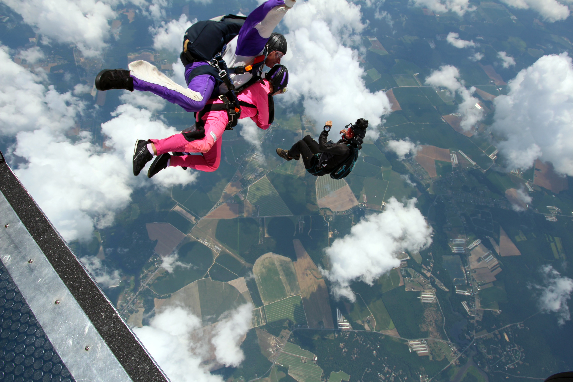 My good friend Taylor jumping out of an airplane. Inspiring, and bad ass.