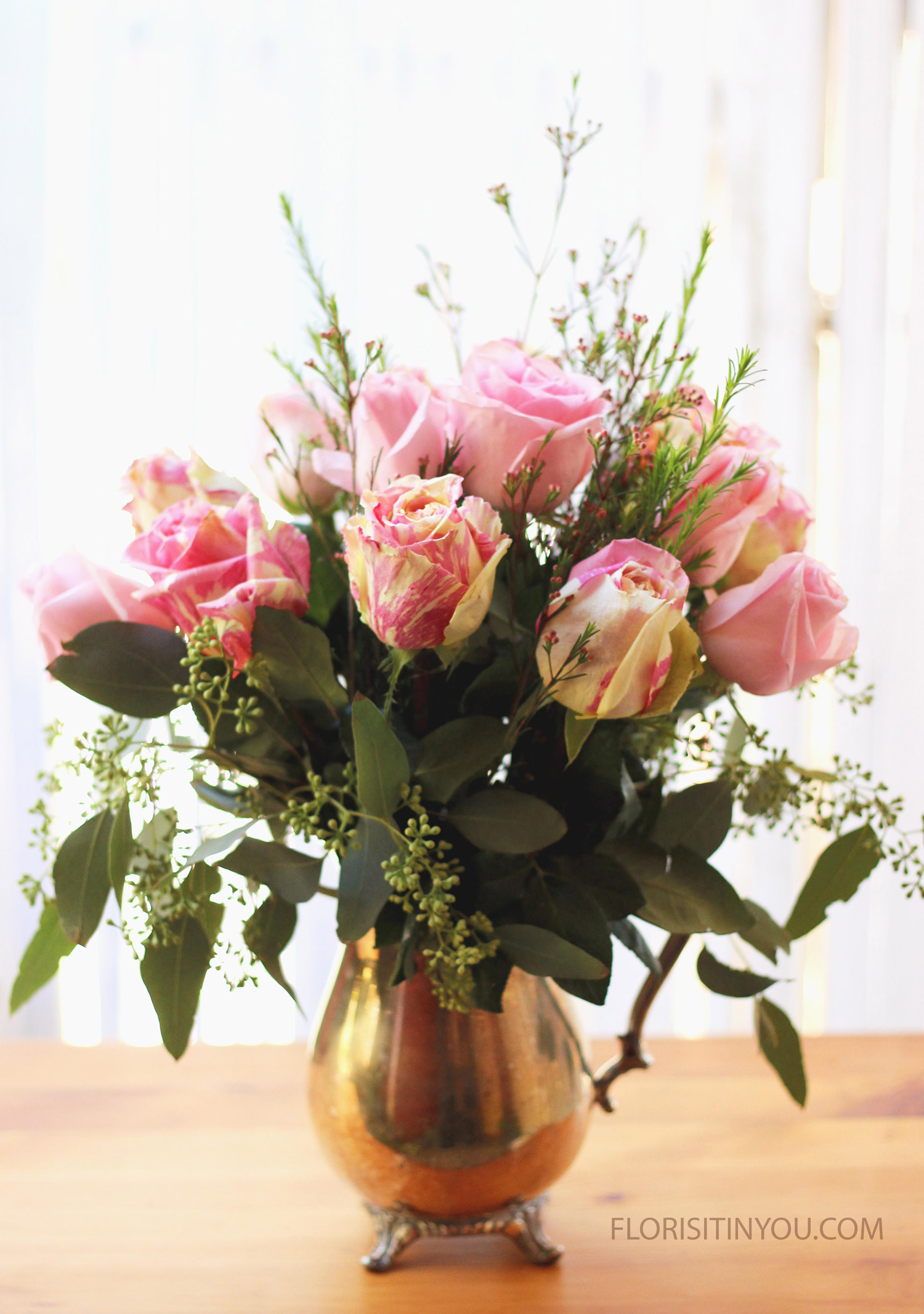 """Silver Pitcher and Candy Cane Roses                     Normal   0           false   false   false     EN-US   JA   X-NONE                                                                                                                                                                                                                                                                                                                                                                              /* Style Definitions */ table.MsoNormalTable {mso-style-name:""""Table Normal""""; mso-tstyle-rowband-size:0; mso-tstyle-colband-size:0; mso-style-noshow:yes; mso-style-priority:99; mso-style-parent:""""""""; mso-padding-alt:0in 5.4pt 0in 5.4pt; mso-para-margin:0in; mso-para-margin-bottom:.0001pt; mso-pagination:widow-orphan; font-size:12.0pt; font-family:Cambria; mso-ascii-font-family:Cambria; mso-ascii-theme-font:minor-latin; mso-hansi-font-family:Cambria; mso-hansi-theme-font:minor-latin;}"""