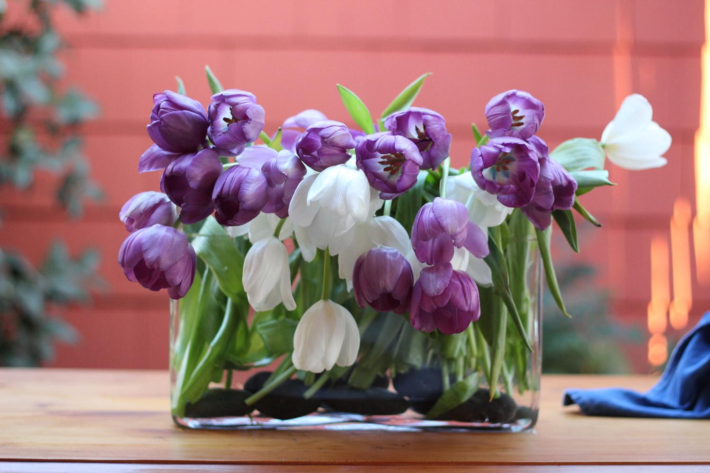 If dr  oo  py,  cut again, so head's near top of vase  .