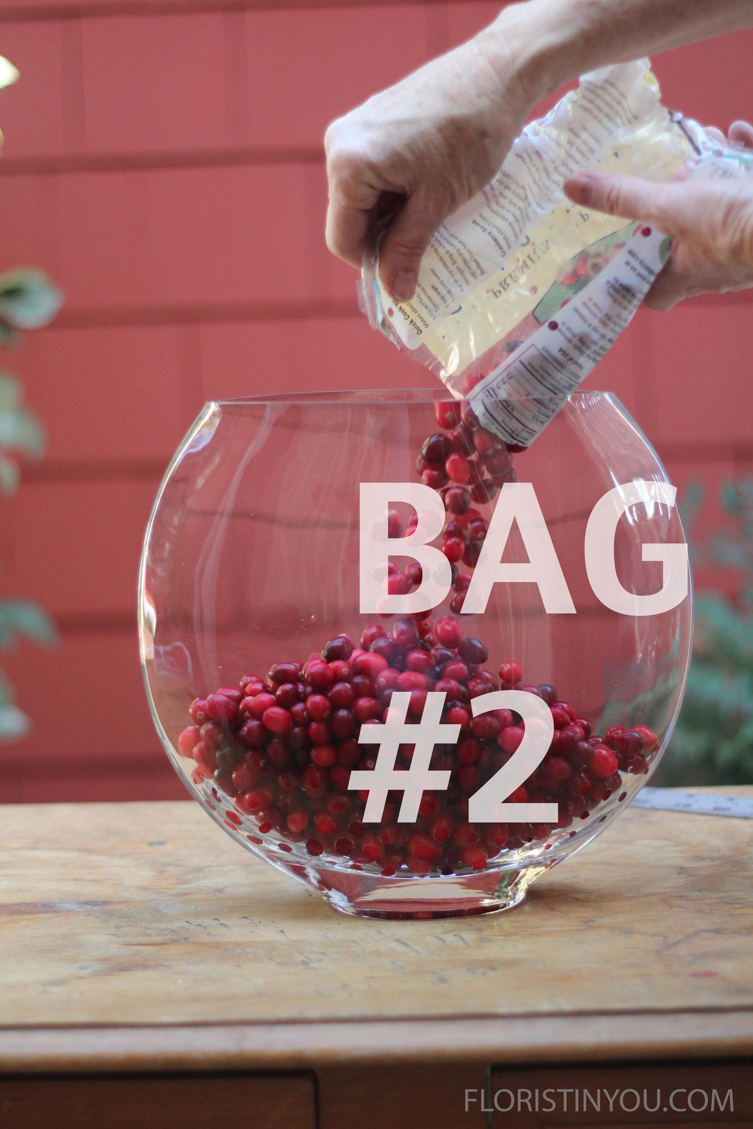 Add bag #2 of cranberries.
