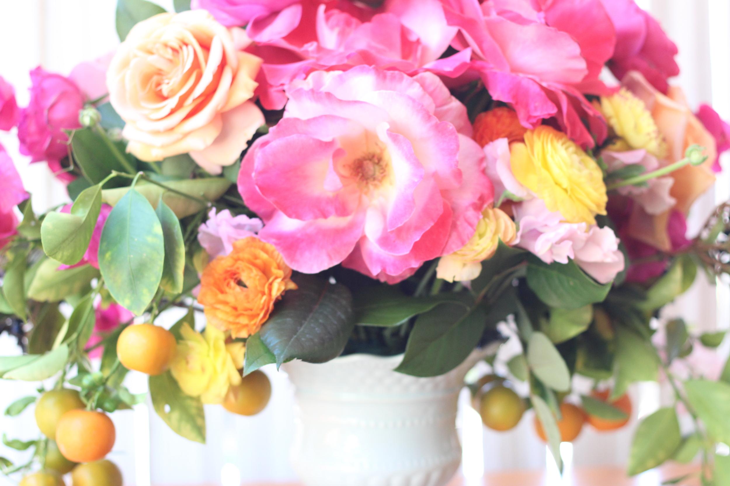 Fill in under Gemini Roses with lemon leaf.