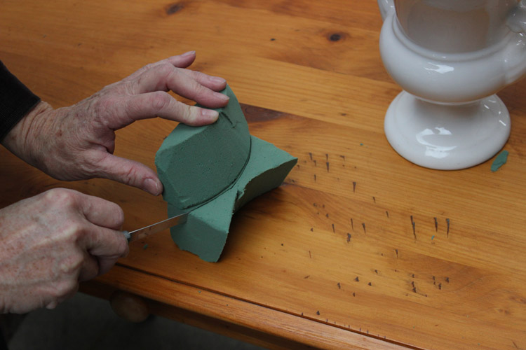 Use shape as pattern and cut three more pieces.