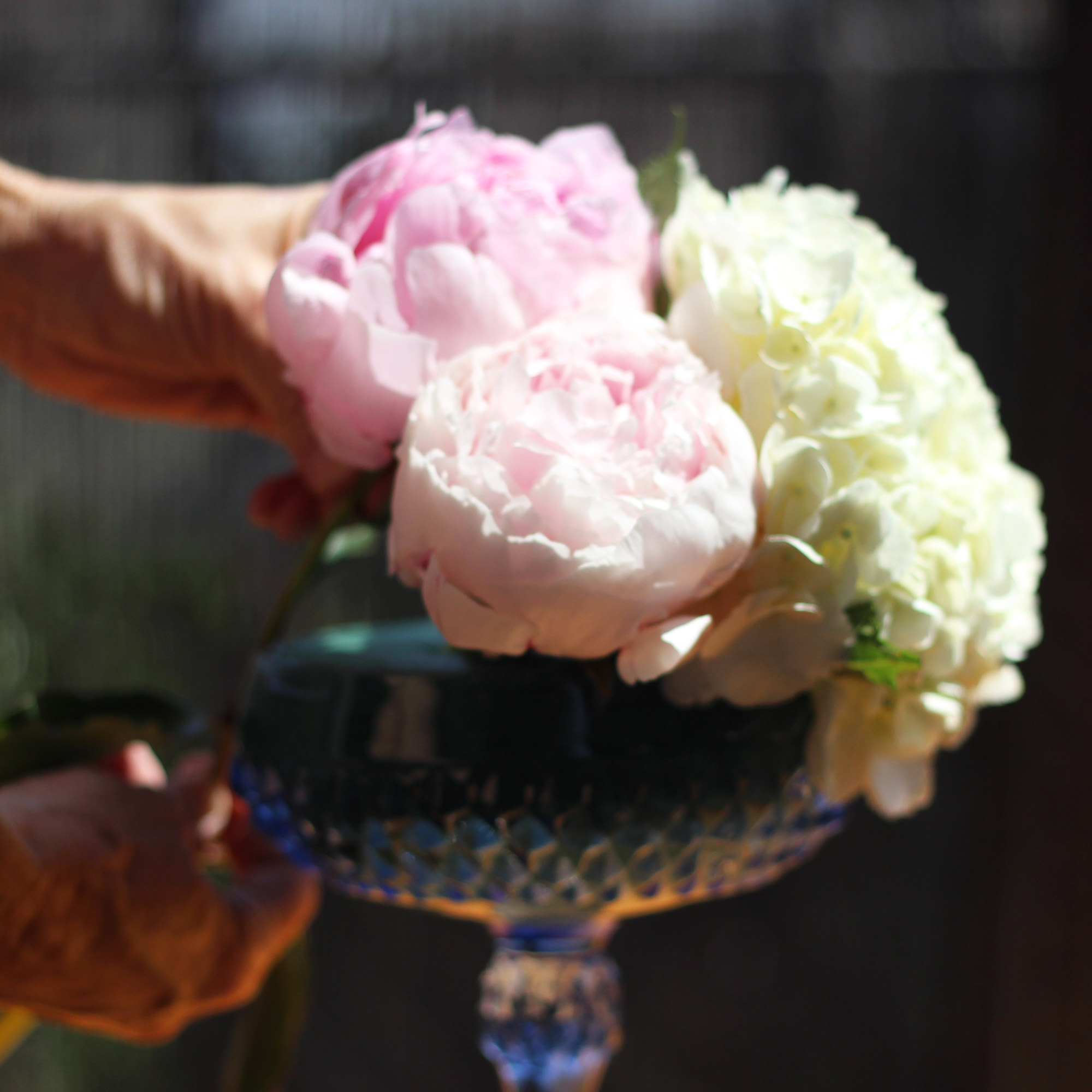 Measure next peony so it is higher. It will go in the middle.