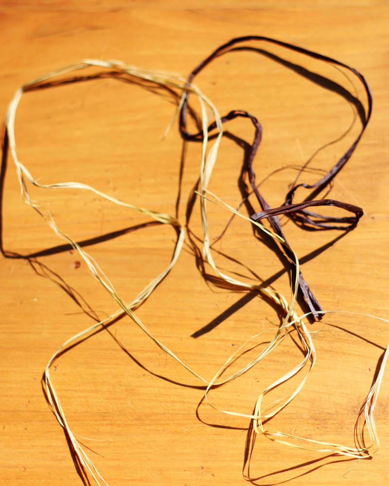 Tie 2 tight knots to the back and clip short.