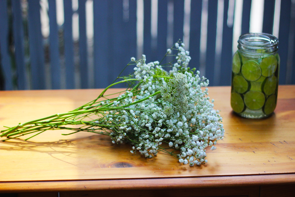 Add to Baby's Breath. 1 front, 1 side, 1 in back.