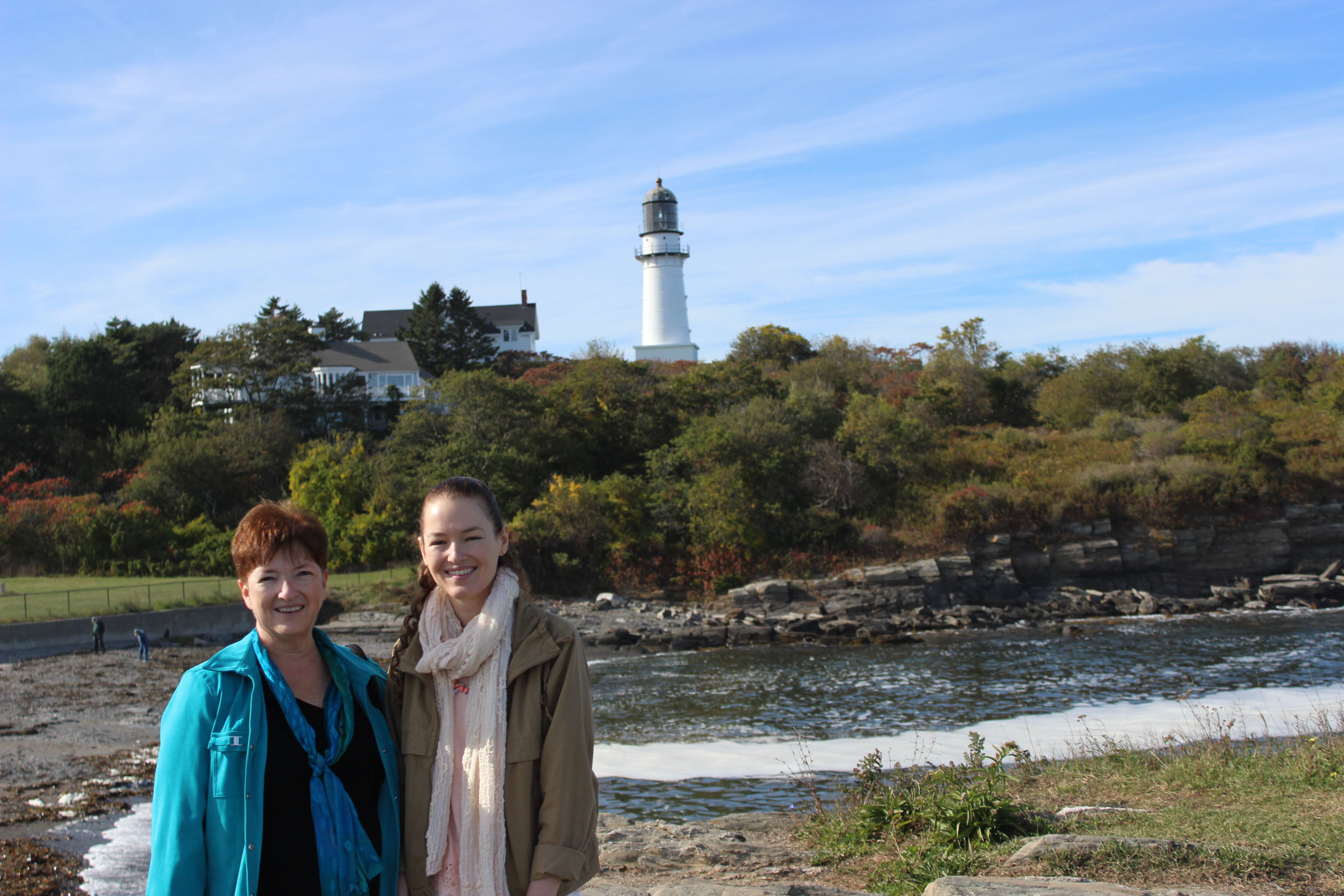 Only the Eastern Tower of the two lighthouses at Cape Elizabeth is still active.