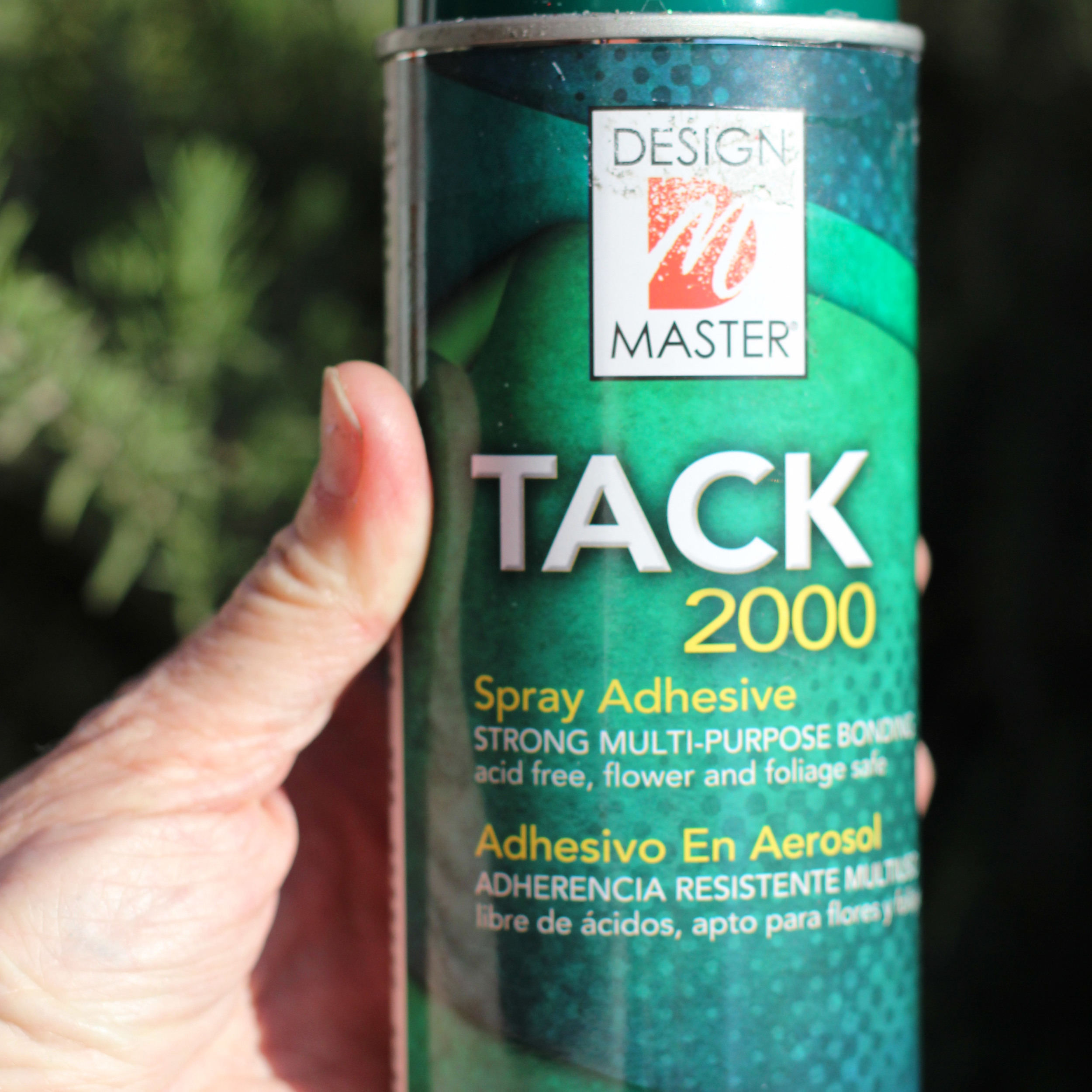 This is the adhesive. Make sure it is acid free and safe for flowers.