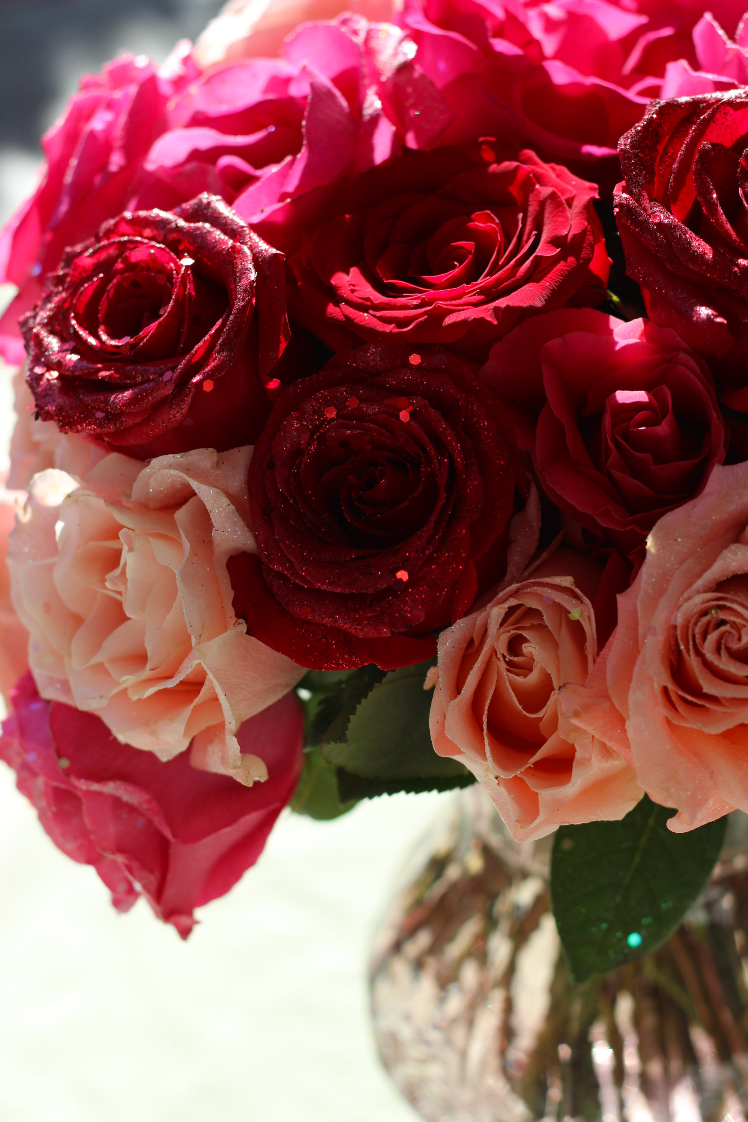 Half the roses will have glitter.