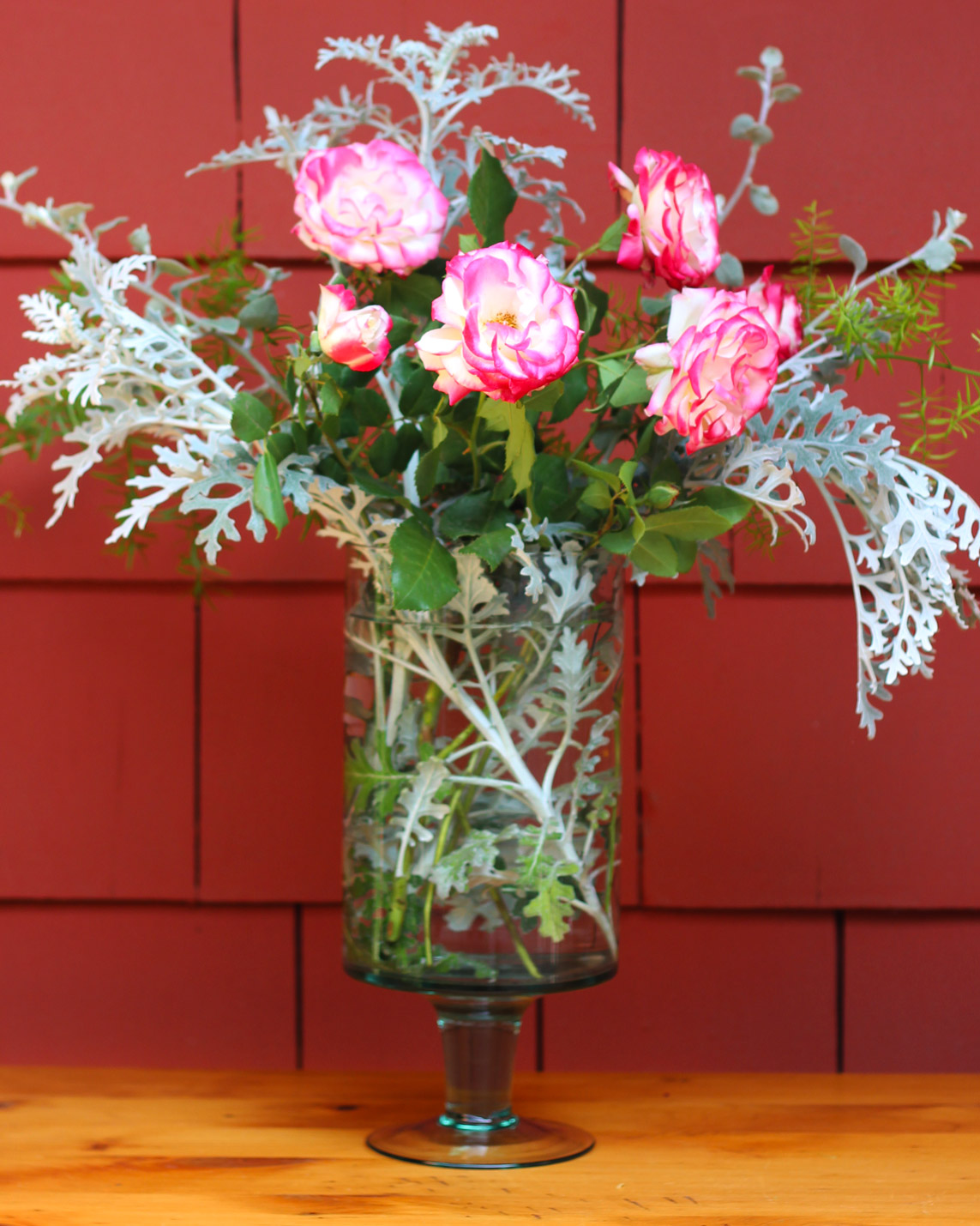 Add the stem of Floribundas or spray of roses. You should see roses in front and back.