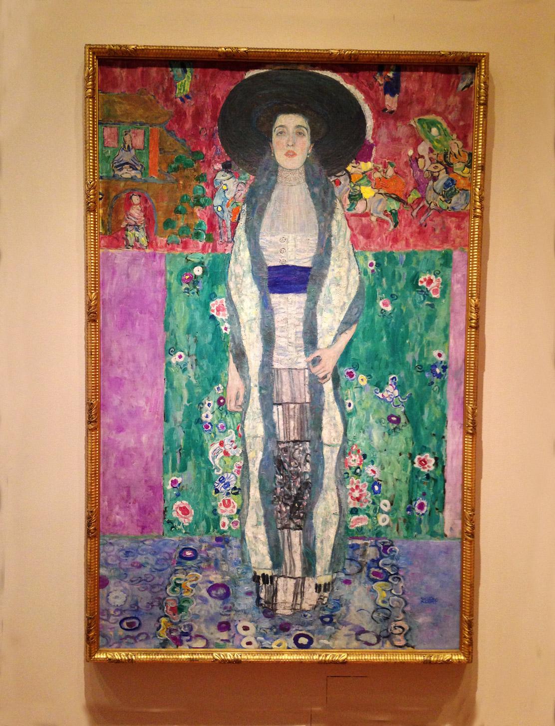 I love the colors in this Klimt portrait.