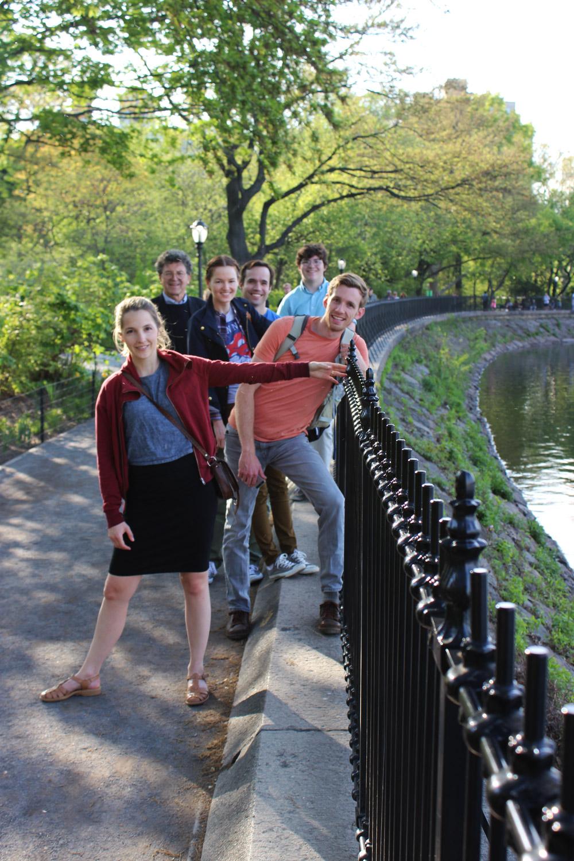 We'll walk through Central Park again.