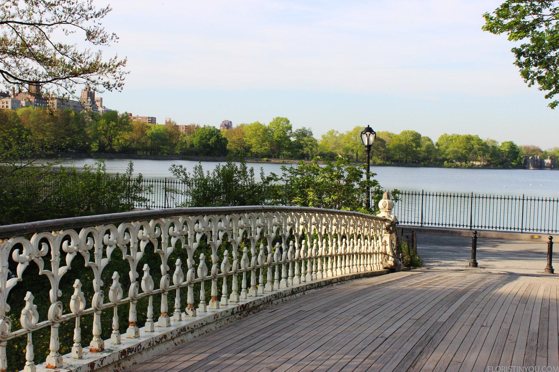 Go over the bridge.