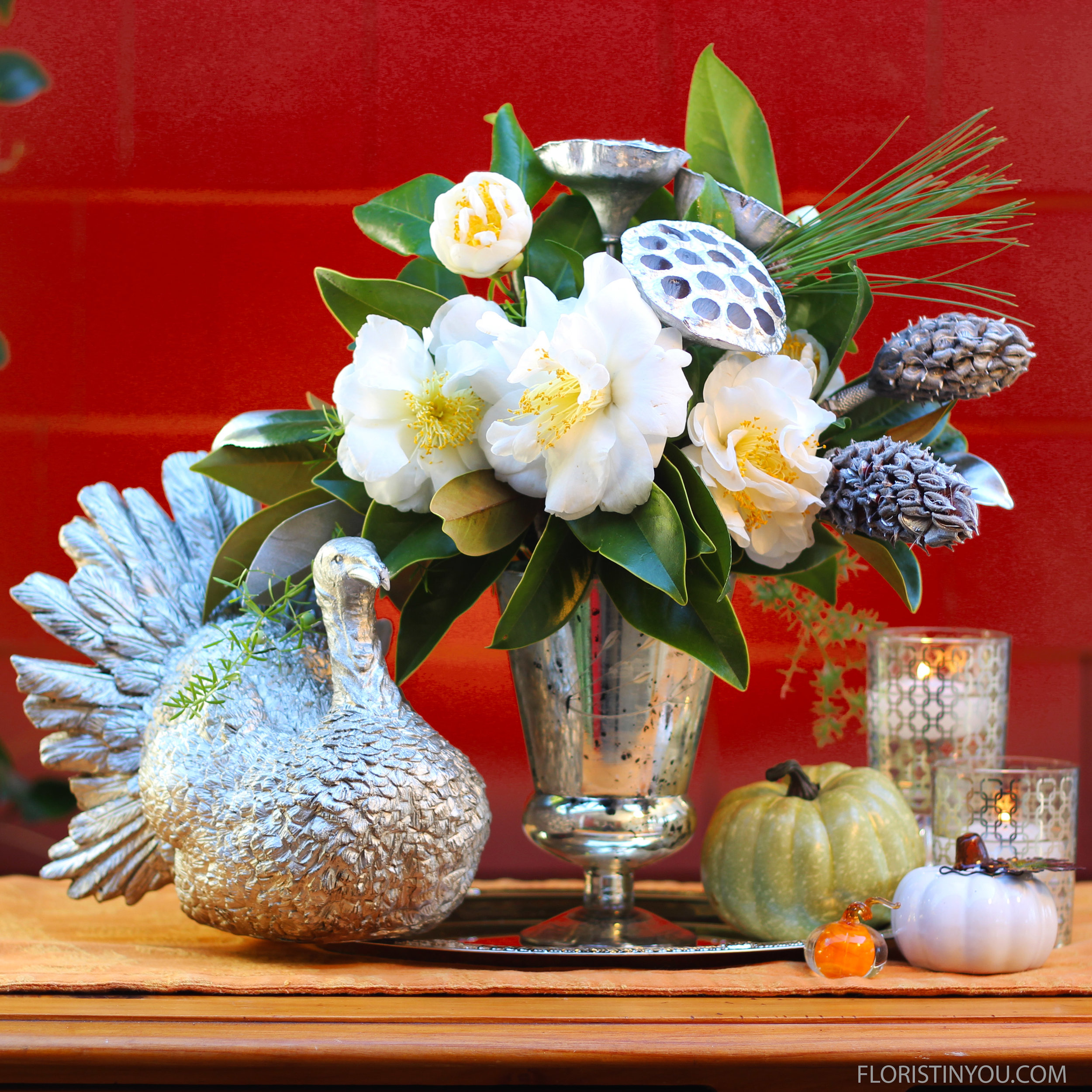 Holiday Centerpiece in Silver
