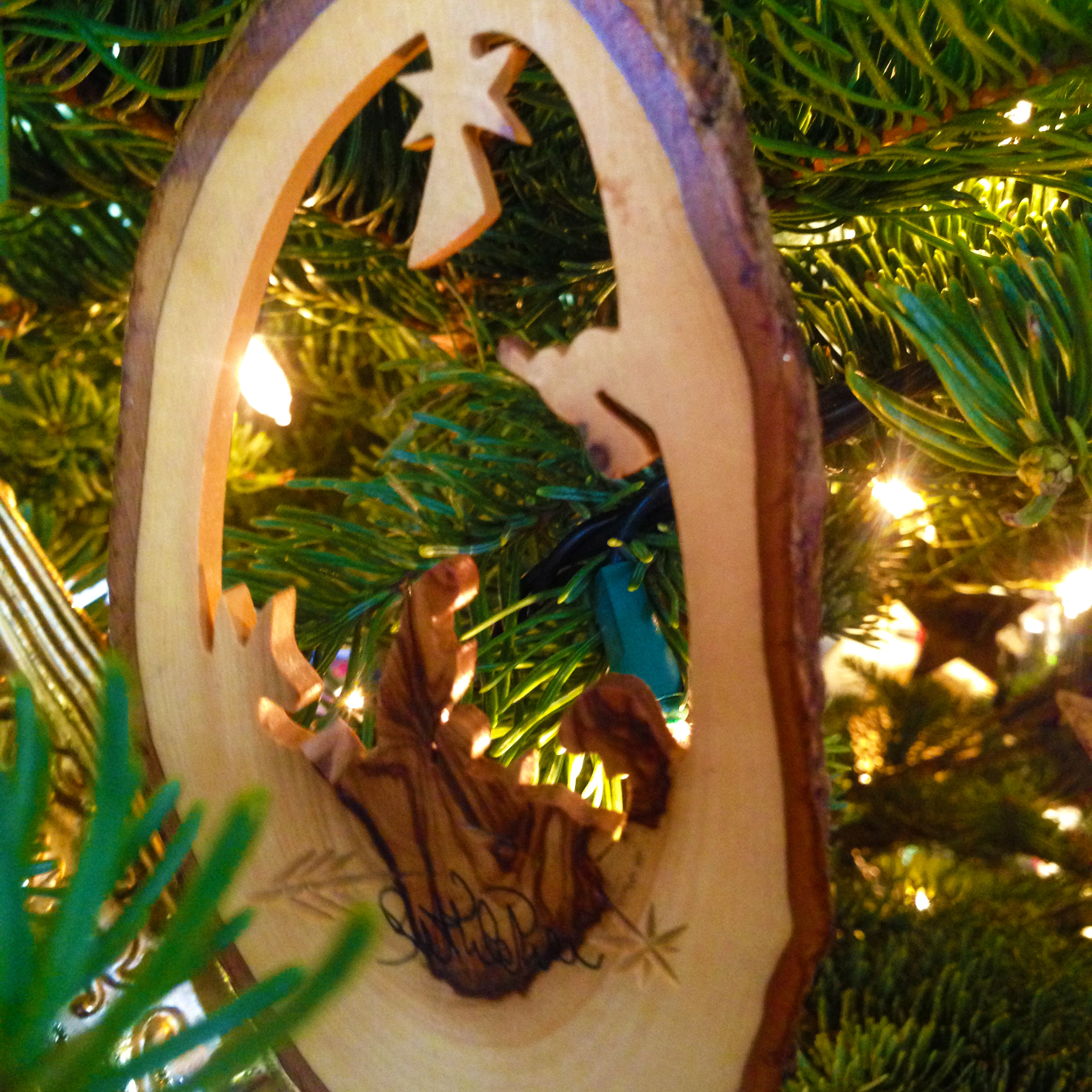 This nativity in made form olive wood and is from Bethlehem. This is what it is all about.