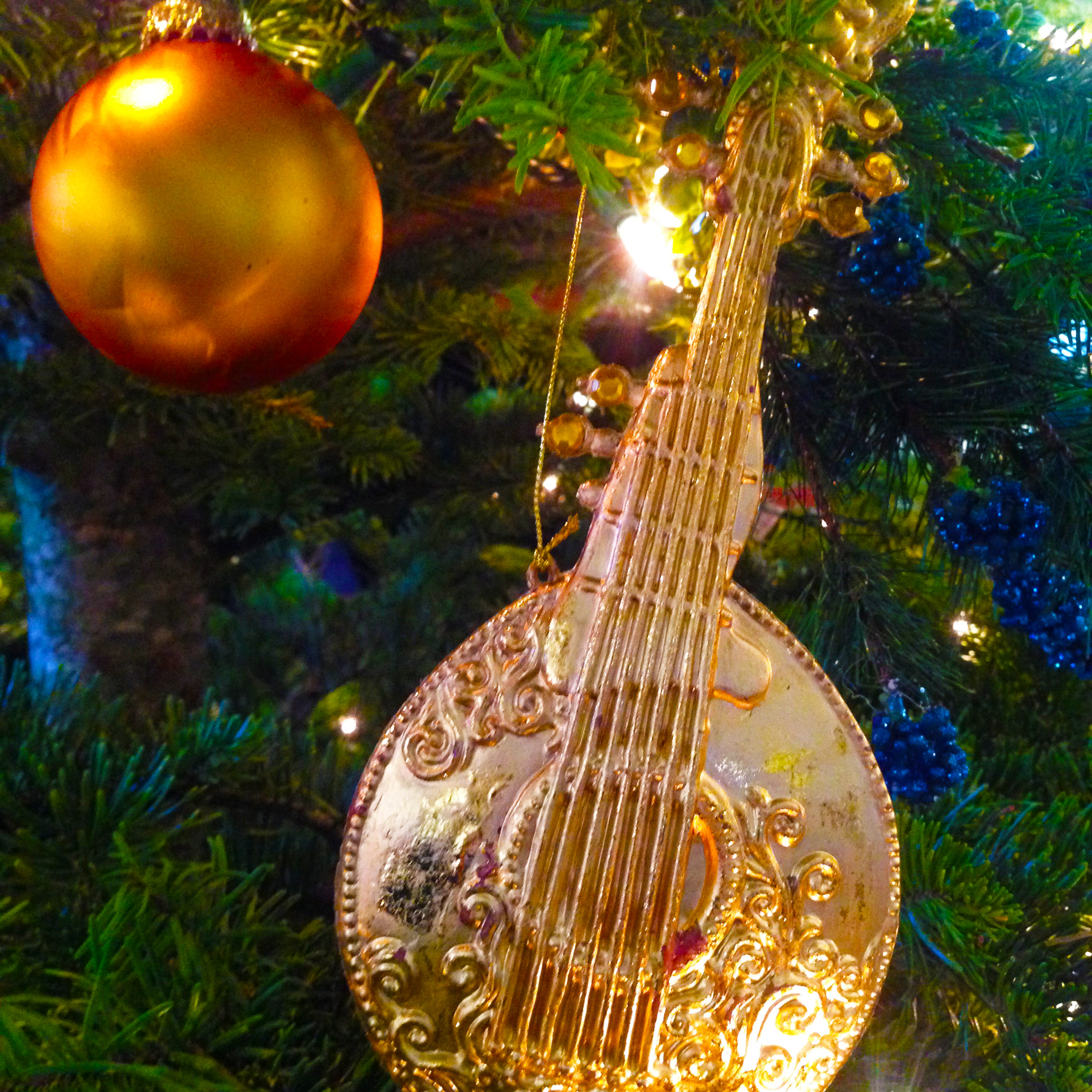 Now bring out the musical insturments one by one...the mandolin.