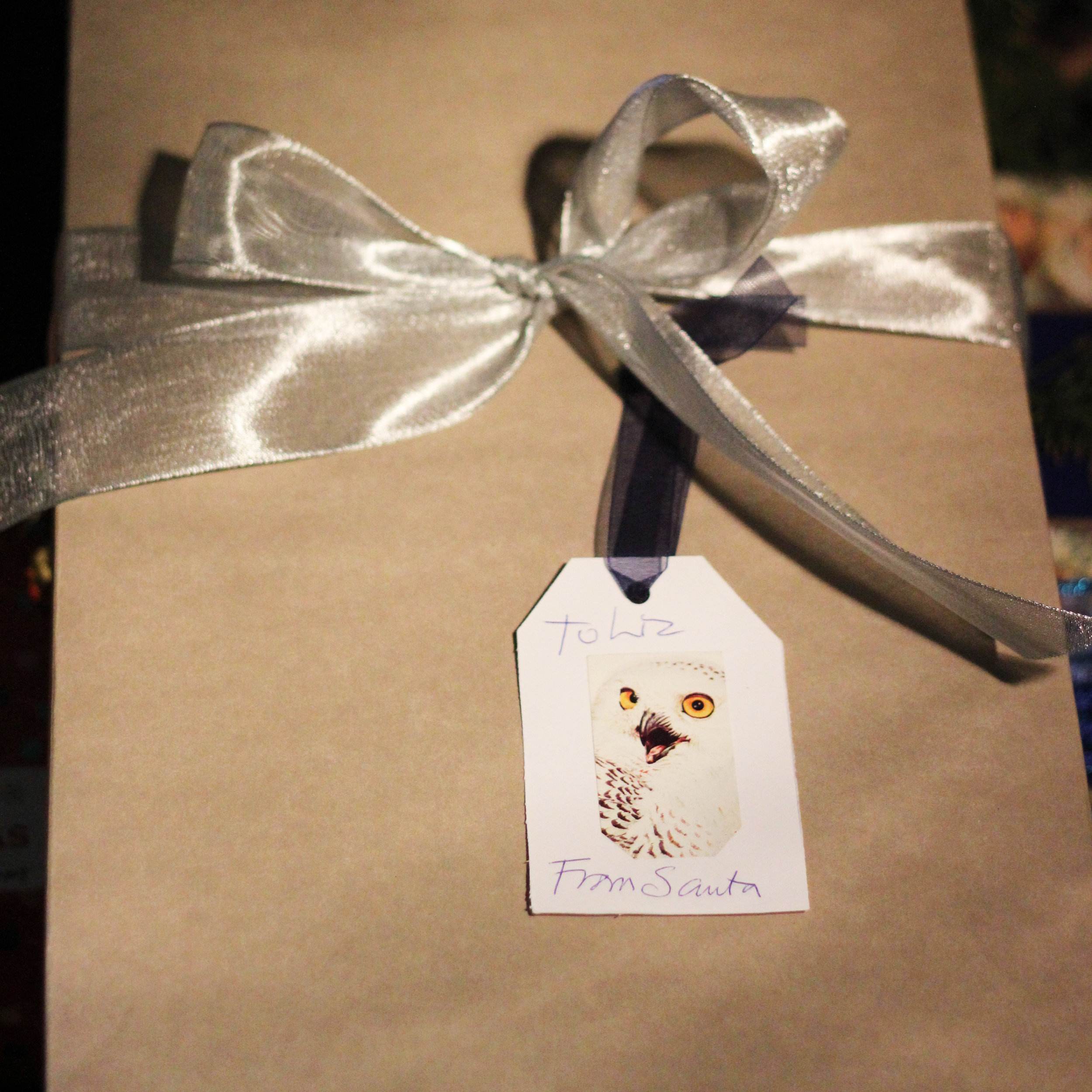 The handmade bird cards on old fashioned tags add charm to your gifts.