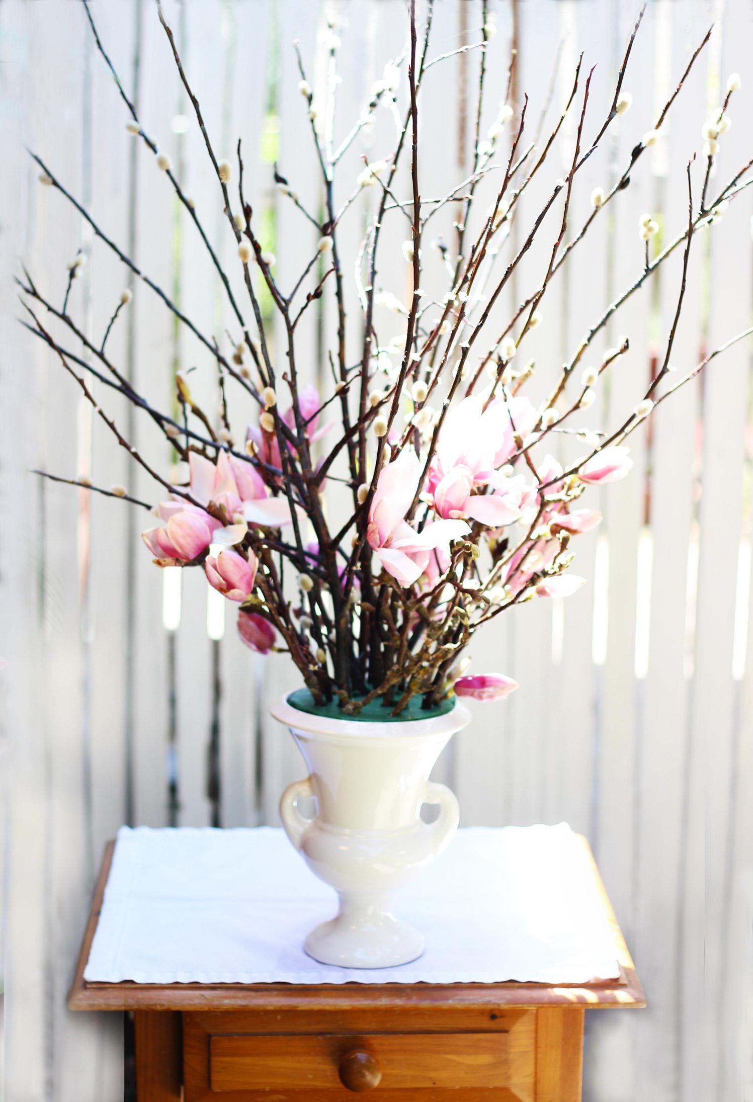 Add Purple Magnolia all around arrangement.