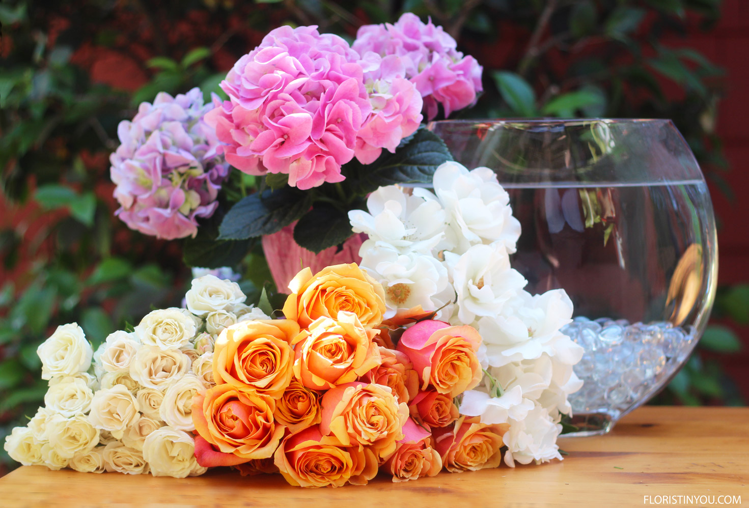 Here are the flowers that you will use.