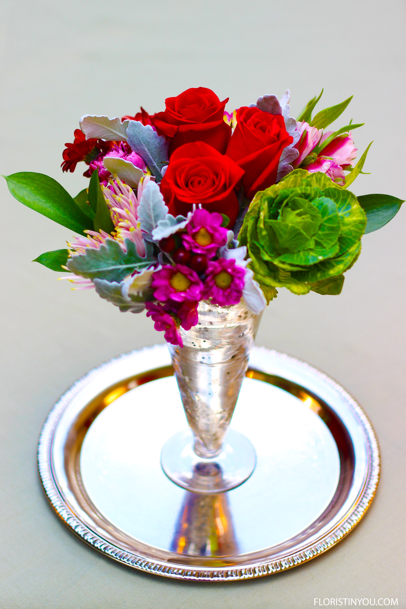 Dressing up a Grocery Store Petite Bouquet