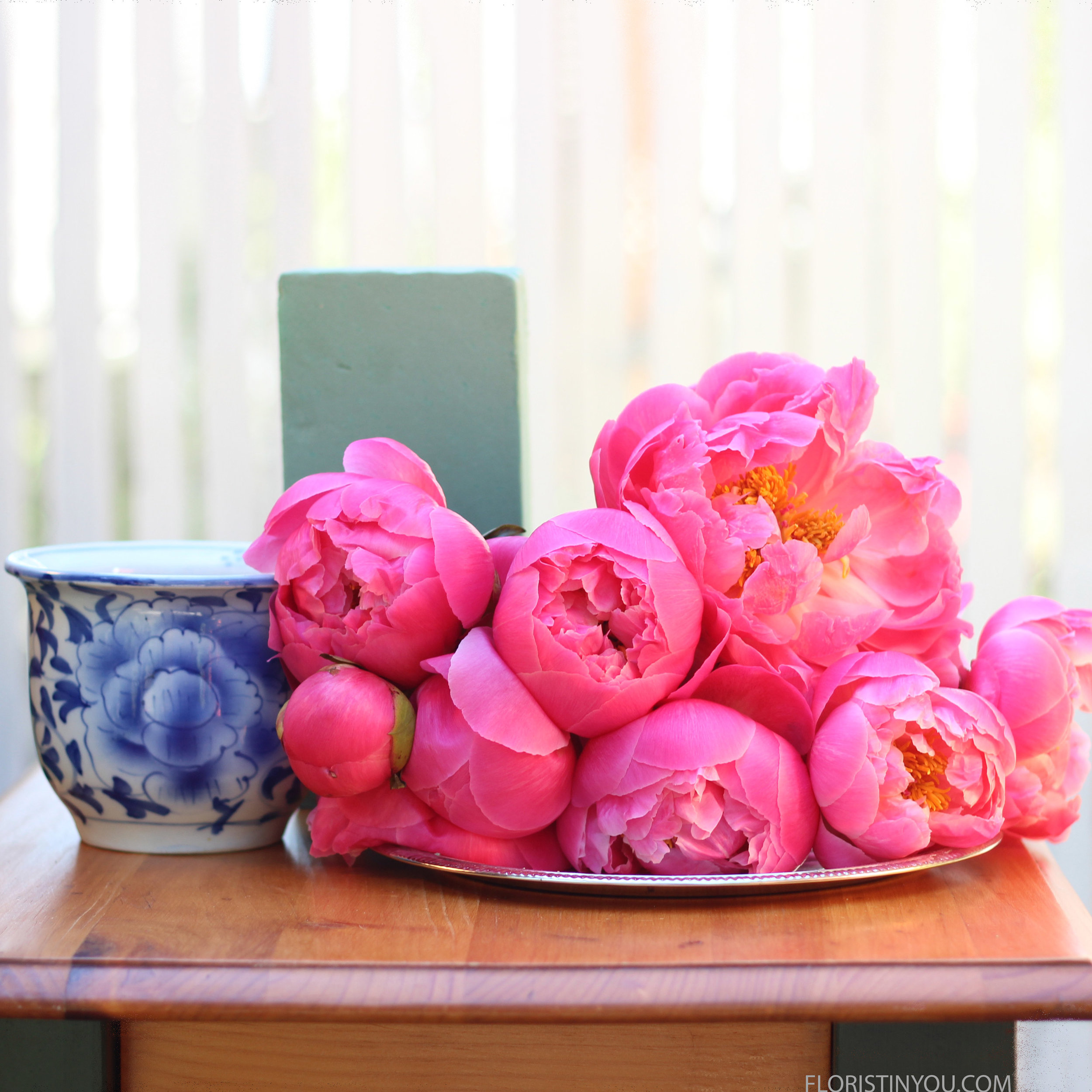 Here are your peonies and supplies.