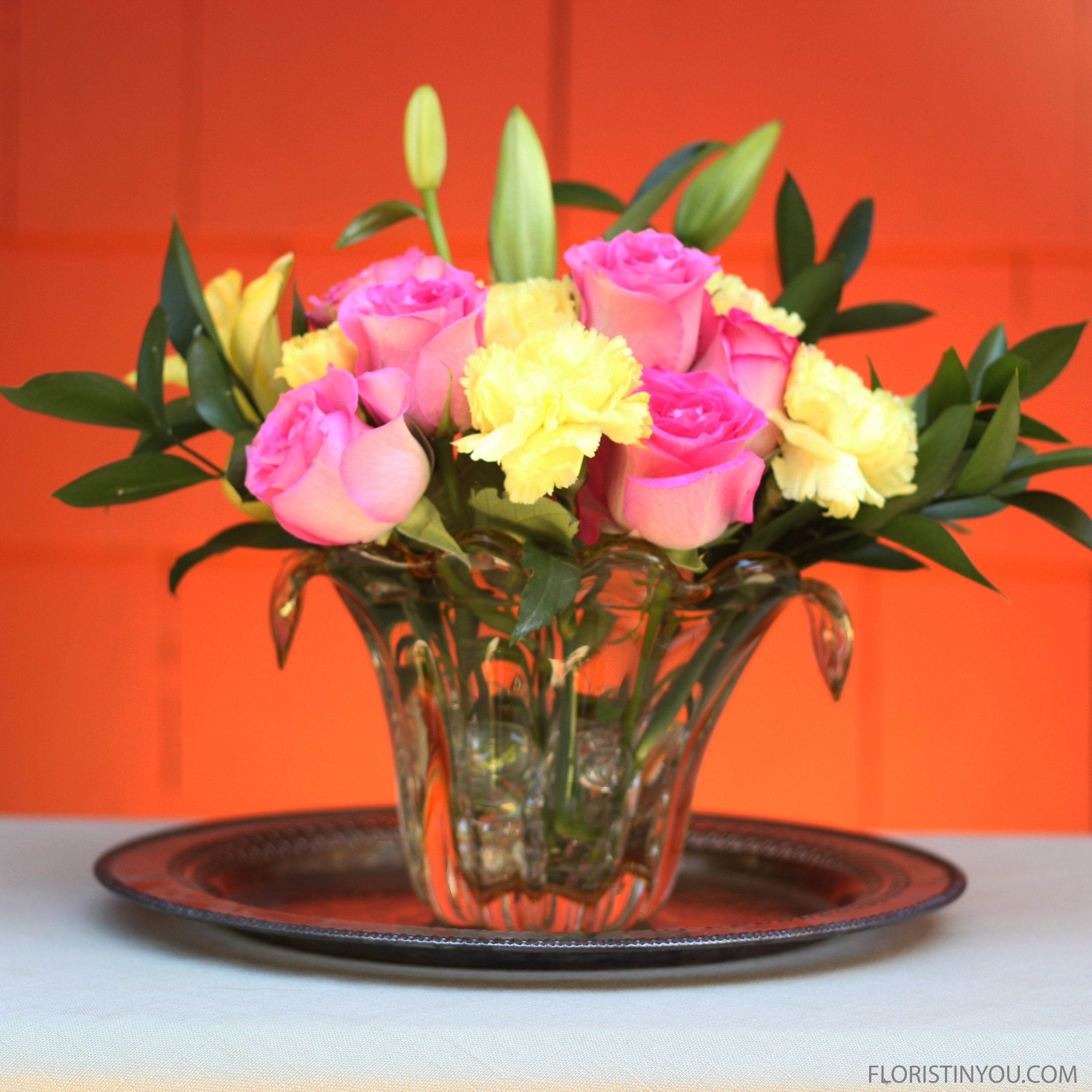Arranging Flowers You Bought an Online in Your Vase