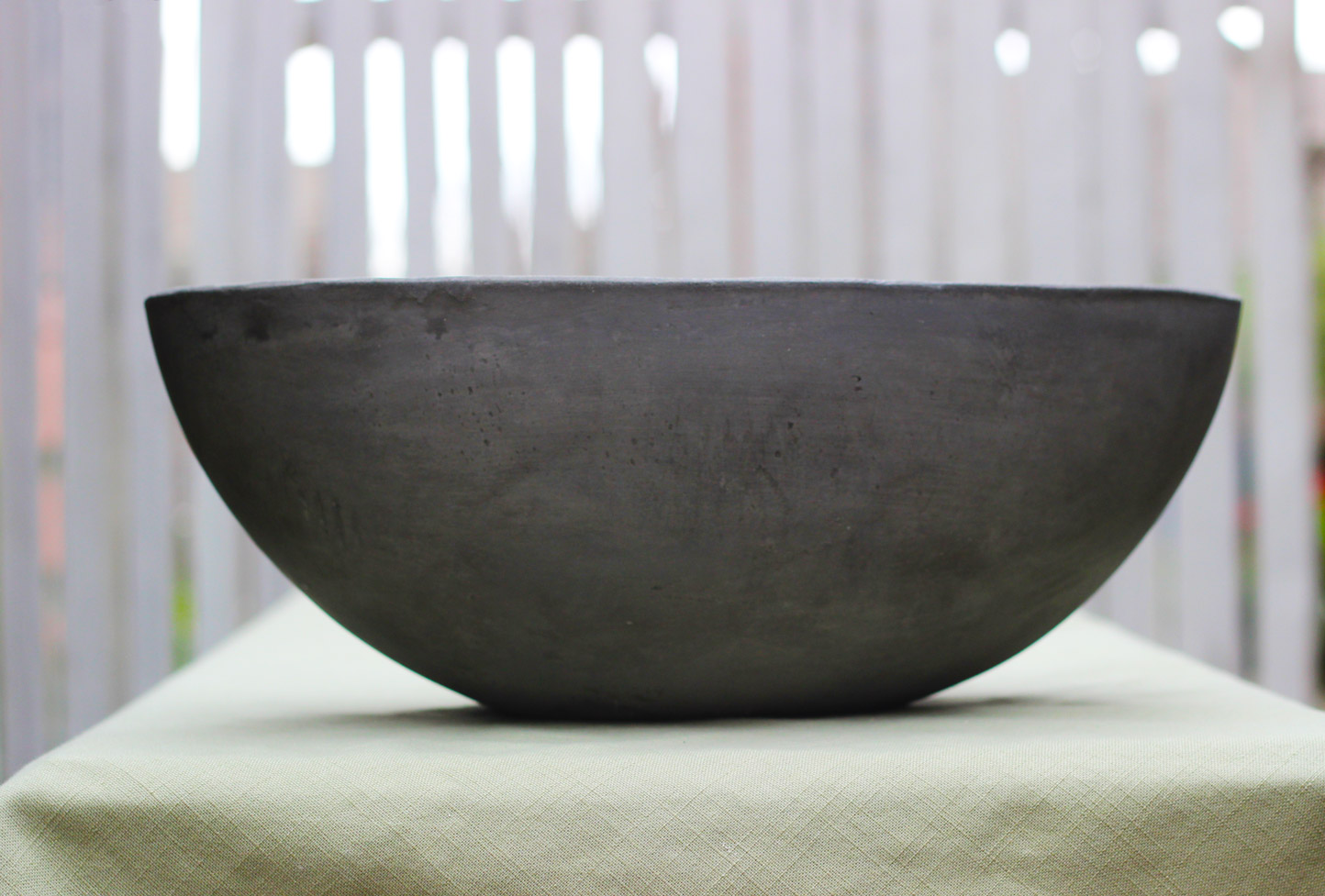 This is your cement boat shaped bowl.