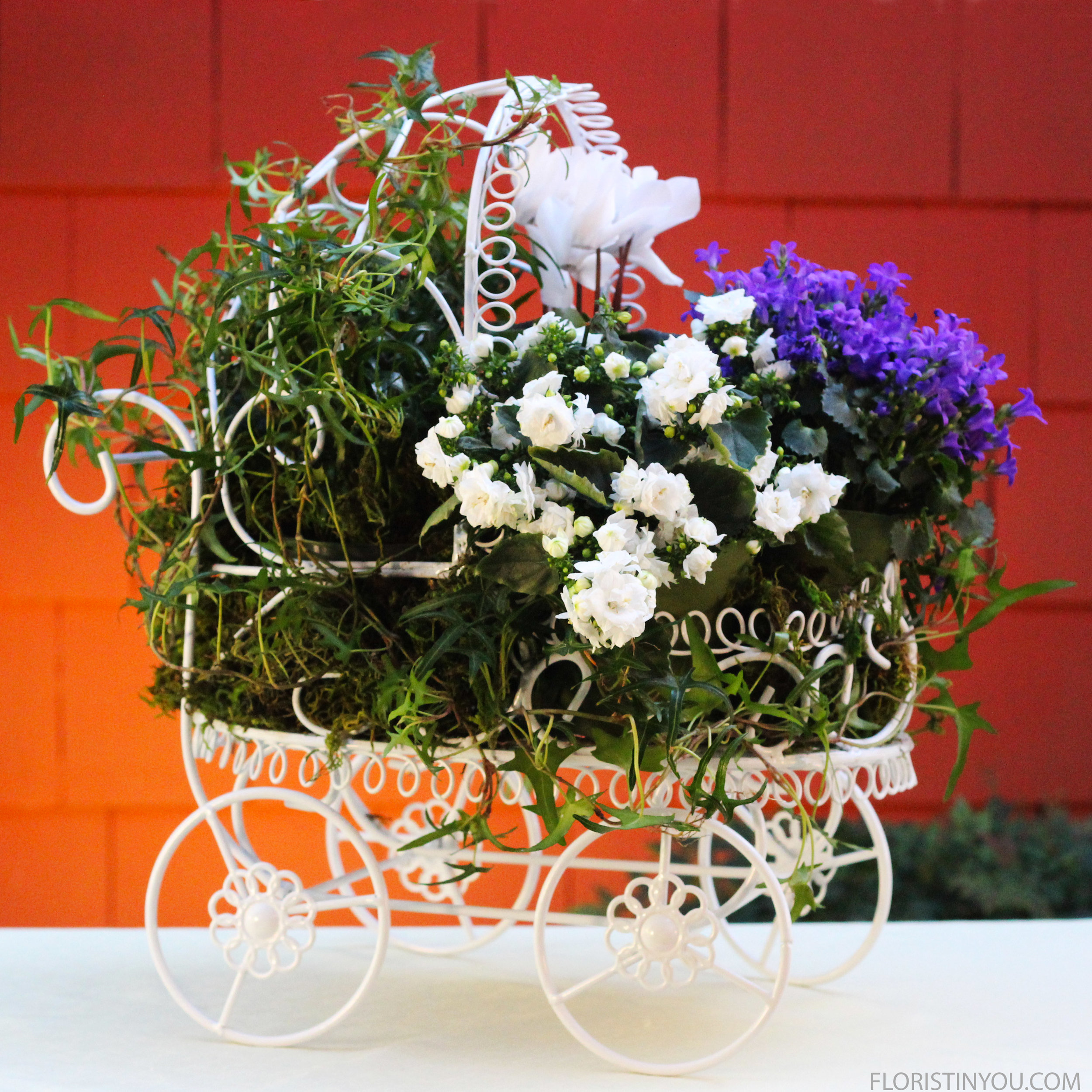 Baby Carriage Topiary