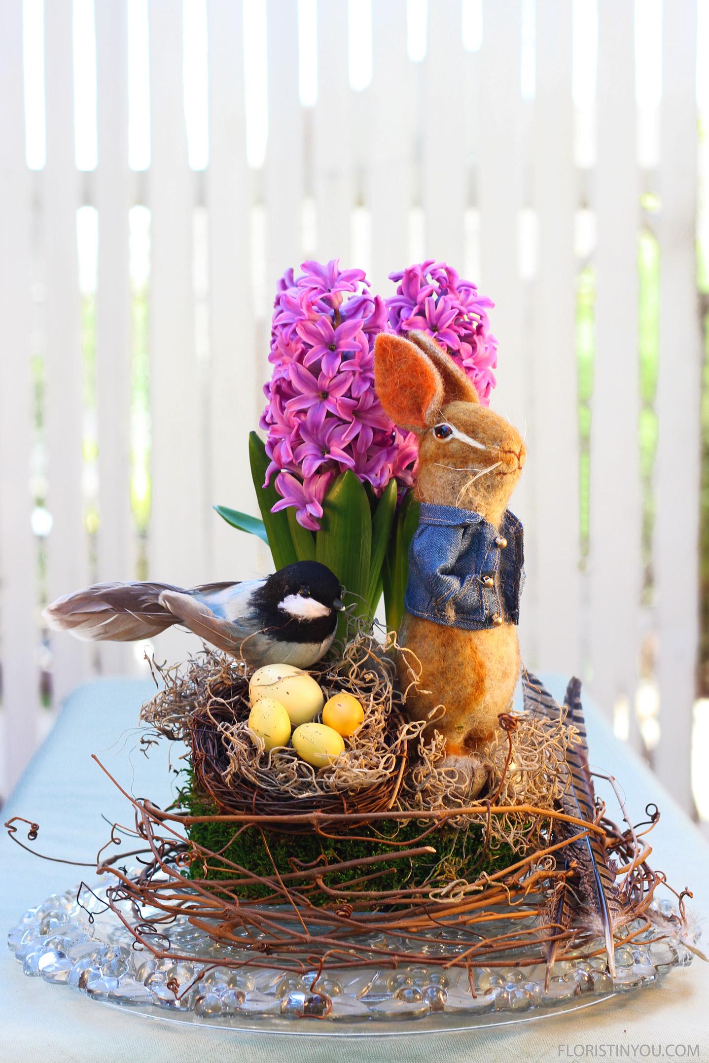 Hyacinth Easter Arrangement
