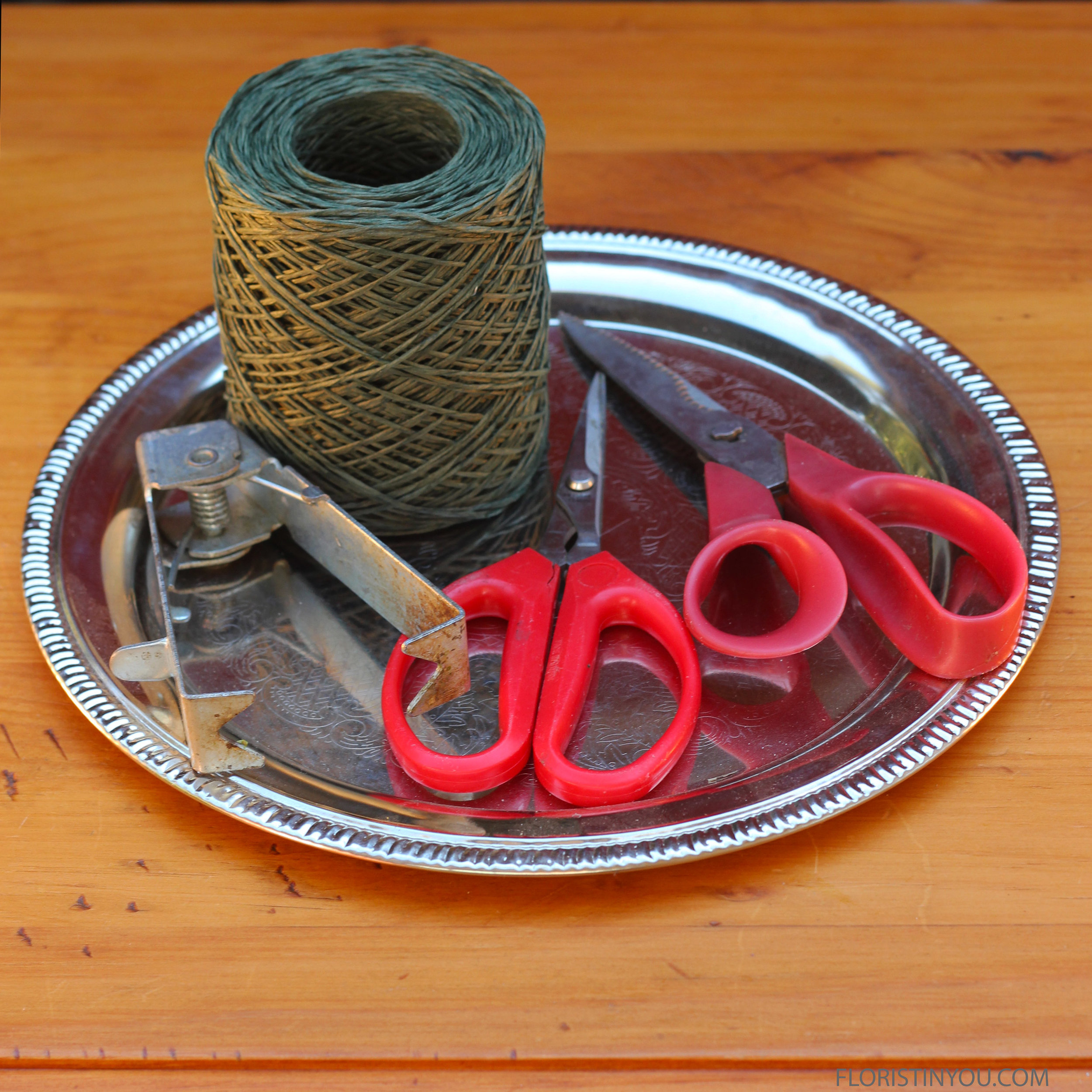 Here are your tools and bind wire.