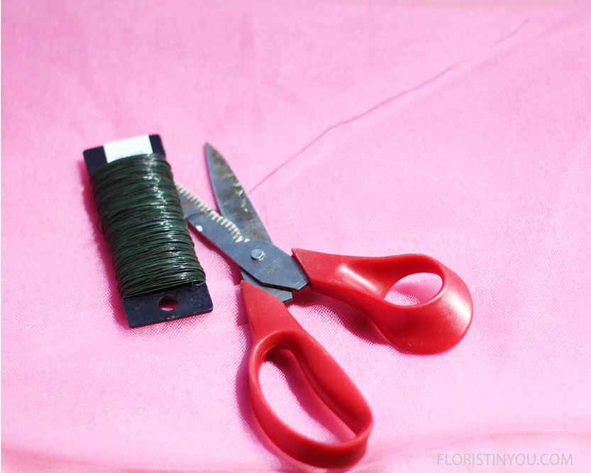 You will use paddle wire and heavy duty scissors to cut it.