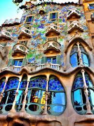 Antoni Gaudi's Casa Mila, Barcelona
