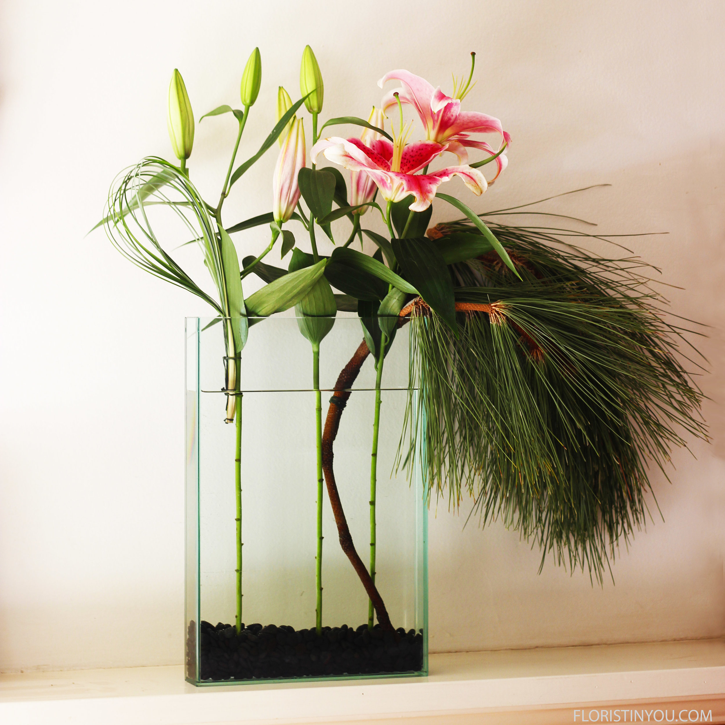 Lilies & Pine Boughs