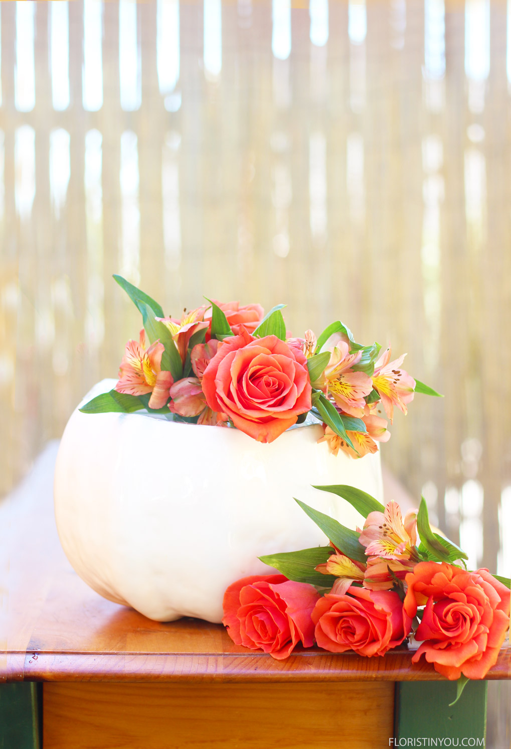 Start adding Alstroemeria with each Rose.