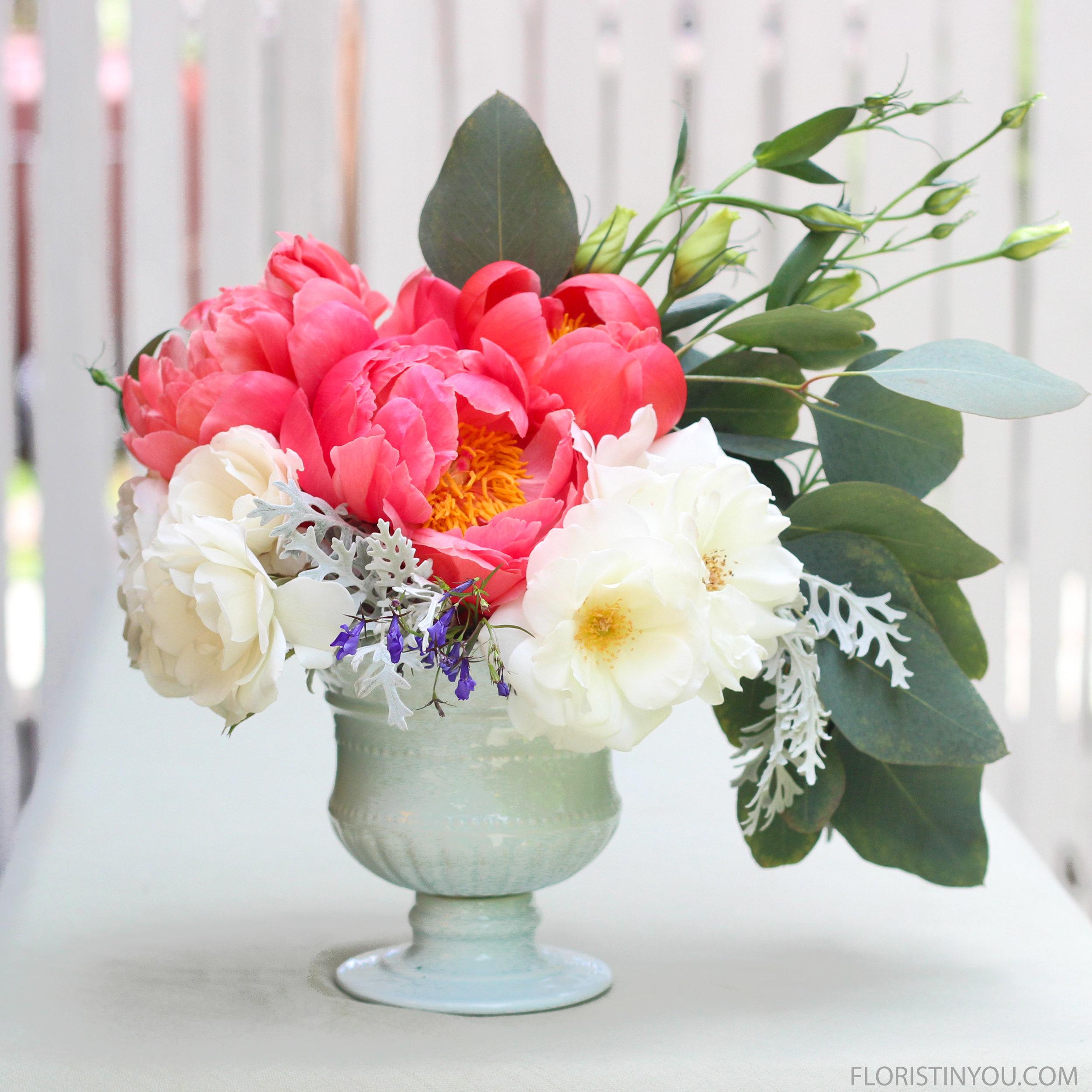 Peonies Roses & Lisianthus