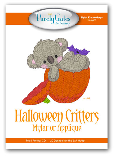 Halloween Critters Mylar or Applique