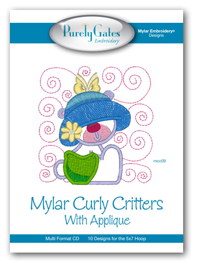 Mylar Curly Critters with Applique