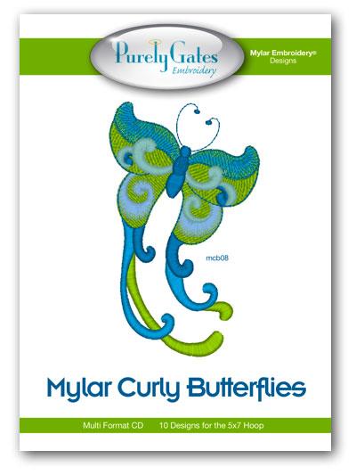Mylar Curly Butterflies