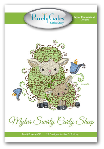Mylar Swirly Curly Sheep