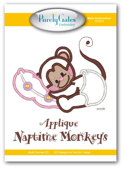 Applique Naptime Monkeys