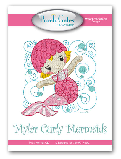 Mylar Curly Mermaids
