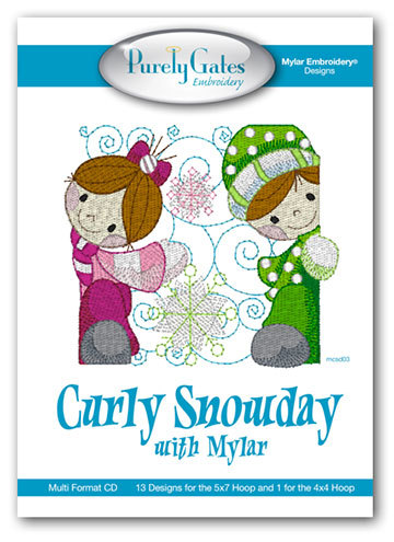 Curly Snowday with Mylar