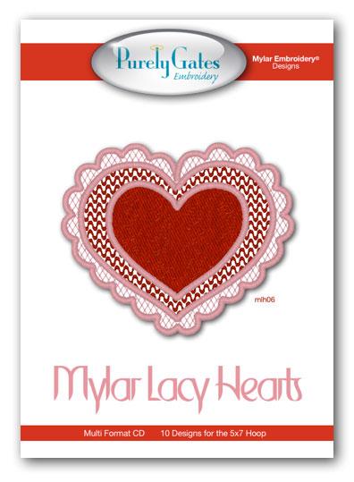 Mylar Lacy Hearts