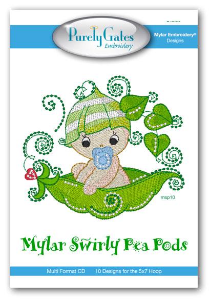 Mylar Swirly Pea Pods